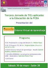 Afiche III Jornada de TIC aplicadas a la educación para docentes de la FCEA