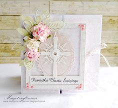 From our Design Team! Card by Małgorzata Dudzińska featuring these Dies - Cross Set 2 Die, Stitched Ribbon die (Set of 3), Open Leaf Flourish :-) Shop for our products here - shop.lalalandcrafts.com  More Design Team inspiration here - http://lalalandcrafts.blogspot.ie/2015/06/inspiration-wednesday-more-than-one-fold.html