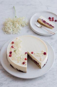 Hyldeblomst moussekage med hvid chokolade og rabarber | Anne au Chocolat | Bloglovin'