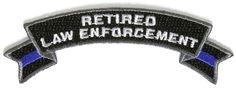 Thin Blue Line Retired Law Enforcement Rocker Patch - 4 x 1.4 inch | eBay