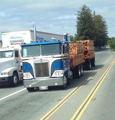 A True California truck n trailer Big Rig Trucks, Semi Trucks, Cool Trucks, Peterbilt 379, Kenworth Trucks, Road Train, Cab Over, Semi Trailer, Heavy Truck
