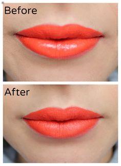 How to Make Lipstick Matte www.ultimakeover.com
