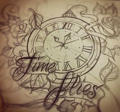 time_flies_by_tattooparadise.info.jpg 350×329 pixels