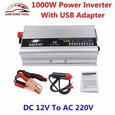 Newest Car Power Inverter DC To AC Doxin Automotive Power Supply Switch On-board 1000 Watt Car Charger Adapter Charger Adapter, Ac Power, Usb