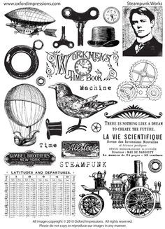 I would like to do this with all my stamps to have a visual of in one notebook... steampunk