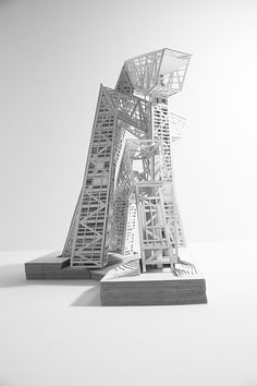 499.SUMMIT (001) - Andreas Tjeldflaat, Gregory Knobloch...  This is a student competition entry for a vertical prison. Brilliant proposal!