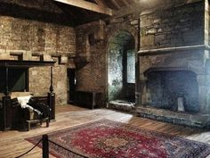 One of the rooms at Bolton Castle that was occupied by Mary Queen of Scots for 6 mths during 1568