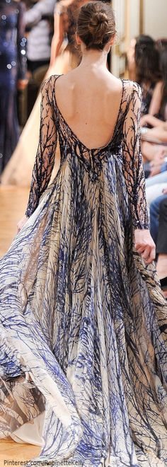 Zuhair Murad Haute Couture | F/W 2013! ~ Oh wow!!! So pretty! Branch pattern!