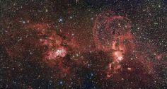 Nueva imagen de los cúmulos estelares NGC 3603 y NGC 3576 en la Vía Láctea (ESO) (08/2014)