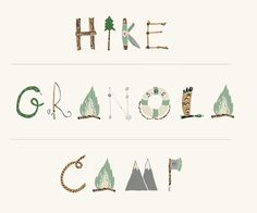 glitter, glue and fireflies: Tuesday Typeface...Woodsy