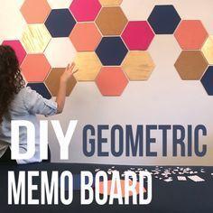 DIY Geometric Memo Board