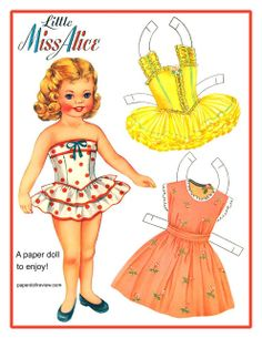 Talking Trash & Wasting Time: Vintage Paper doll find