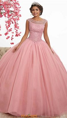 Magbridal Alluring Tulle Jewel Neckline Cap Sleeves Ball Gown Quinceanera Dress With Beadings Ball Gown Dresses, 15 Dresses, Evening Dresses, Fashion Dresses, Formal Dresses, Wedding Dresses, Pink Quinceanera Dresses, Dress Prom, Plus Size Occasion Dresses