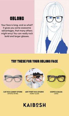 KAIBOSH | Glasses for Oblong Face Shapes | Shop glasses now on www.kaibosh.com