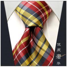 Silk Neckties for Men   ... -Red-Yellow-Gray-Men-s-Tie-Neckties-100-Silk-Wedding-Men-Silk.jpg