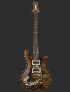 Paul Reed Smith Guitars, Private Stock 30th Anniversary Dragon, with inlay designed by D&D artist Jeff Easley.