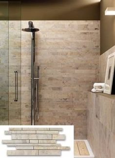 slate porcelain tile shower enclosure