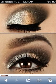Dramatic dark eye for wedding.