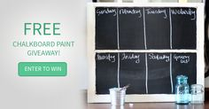 Win the Chalkboard Paint Master Collection!