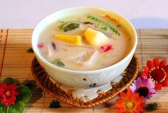 Vietnamese Recipes – Sweet Soup with Coconut Milk, Taro, Cassava, Sweet Potato and Tapioca – Che Ba Ba hay Che Thung