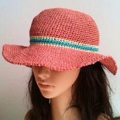 Sombrero de verano la rafia... Sombrero por GloriasHandCreations