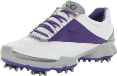 ECCO Biom Golf-W Womens Golf Shoe,White/Iris,41 EU/10-10.5 M US