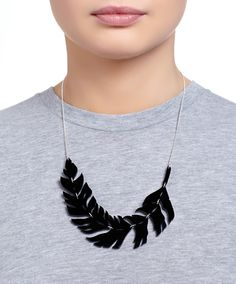 Raven Feather Necklace - Black from Tatty Devine