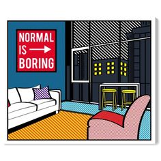 ' Living In The City' Canvas Art