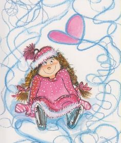 Virpi Pekkala, Finland, Täydellinen kuvio (Complete the pattern) Winter Illustration, Cute Illustration, Valentines Watercolor, Perfect Figure, Sugar Art, Funny Cards, Whimsical Art, Cute Cartoon, Happy Valentines Day