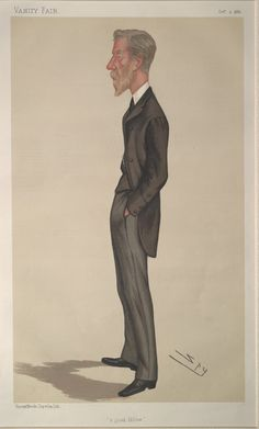 Lord Edward Cavendish as caricatured in Vanity Fair, 1886