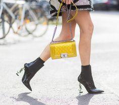Chanel purse + YSL boots