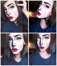 cartoon makeup
