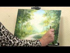 """Мастер-класс от художника Александры Юровой по написанию картины маслом на тему """"Летний лес"""" - YouTube"""
