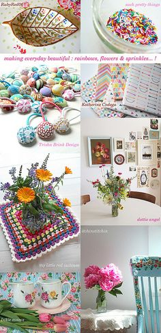 making everyday beautiful : rainbows, flowers & sprinkles... ! by emma lamb, via Flickr
