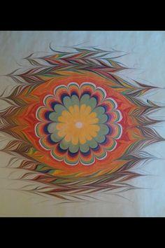 Ebru Marble Painting, Marble Art, White Marble, Ebru Art, Water Marbling, Turkish Art, Paper Cards, Bookbinding, Islamic Art