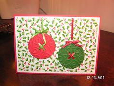 Paper Button Ornaments