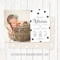 183 Best Birth Announcements Images Baby Announcements Baby