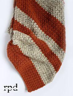 Pumpkin Tweed Crochet Blanket Pattern - Rescued Paw Designs - #tutorial #gifts