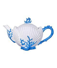 Aqua Shell Teapot | zulily