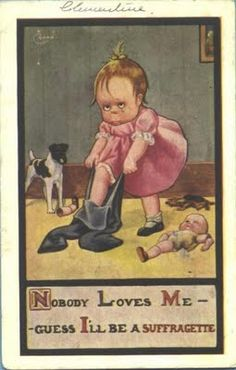The Museum of Sexism. Fantastic posts showing the history of sexism against feminists/suffragettes.