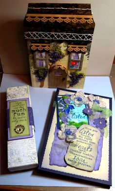 Masculine Inspirations in Paper & Crafts: Wisteria Cottage Gift Set - by Debby H. for Club Scrap Blog Hop