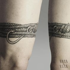 """ThePirate #linework #tattoo #lineworktattoo #blackink #rope #hook #knot"""
