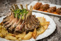 Elisa's Roasted Lamb (Agnello Al Forno) is a hearty meal that's perfect for a rainy summer day. Check out her cookbook for the recipe, along with other tasty meat dishes! http://www.italianmomscooking.com/ #italianmomscooking
