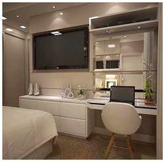41 modern bedroom design ideas you should already own 8 Small Master Bedroom, Tv In Bedroom, Home Decor Bedroom, Bedroom Ideas, Bedroom Shelves, Bedroom Quotes, Bedroom Signs, Interior Livingroom, Ladies Bedroom
