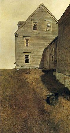 Andrew Wyeth....The Olsen farmhouse, near Cushing, ME. We visited here at least once every summer, always brought houseguests here.