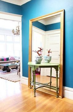 Mirror small apartment decorating ideas.