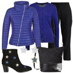 Blu royal e tante stelle  outfit donna Trendy per tutti i giorni  28df14cf23e