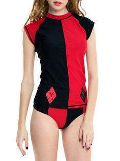 DC Comics Harley Quinn Girls Rash Guard | Hot Topic