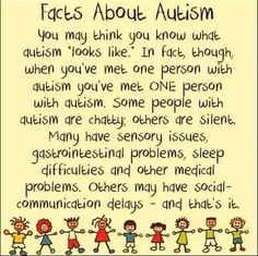 Autism Awareness.. EVERY CHILD IS DIFFERENT!! Every child learns differently!! #autism