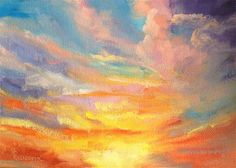 "Daily Paintworks - ""Sunrise over Denver"" - Original Fine Art for Sale - © Sandy Ransom"